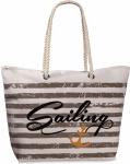 Fabrizio Shopper / Strandtasche Sailing, weiß / braun