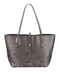 Coach Shopper, Tote Bag, Metallic Graphite 59504