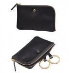 Aigner Schlüssel-Etui mit RV, 153533 schwarz
