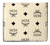 MCM Color Visetos 2 Fold mini Flat Wallet weiss-schwarz