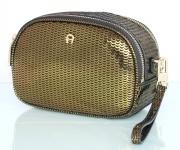 Aigner Fashion Clutch / Kosmetikbeutel S, Metallic Olive Green 163063