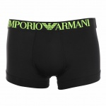 Emporio Armani Boxershort / Trunk, Microfiber schwarz-neongelb