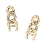 Aigner Ohrringe mit Kristallen, gold, A69020