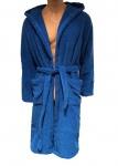Emporio Armani Bademantel mit Kapuze und Tasche blau, 110799