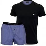 Emporio Armani Herren Pyjama/Schlafanzug kurz in blau, 111339