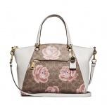 Coach Handtasche, Weiß mit Blumen 31031