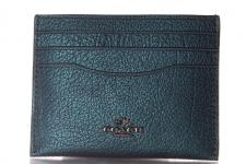 Coach Kreditkartenetui/ Flat Card Case, Metallic Mineral, 59462