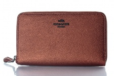 Coach Portemonnaie mit Zip, Metallic Rust 59968
