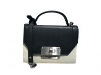Valentino Umhängetasche Lady Leather Bag Girello, Ecru/Nero
