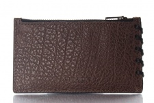 Coach Kreditkartenetui/ Flat Card Case mit RV, braun, 59285