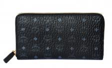 MCM Color Visetos Zip Around Wallet schwarz