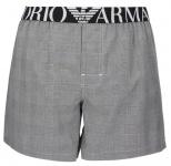 Emporio Armani Woven Cotton Boxer Short, weiß/schwarz gestreift Größe XL