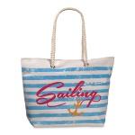 Fabrizio Shopper / Strandtasche Sailing, weiß / hellblau