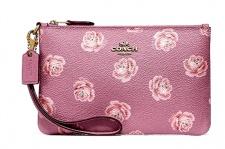 Coach Clutch / Kosmetiktasche, Pink/ Rosenprint 31827