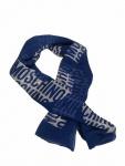 Boutique Moschino Tuch mit großem Schriftzug, Blau
