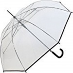 Happy Rain Stockschirm transparent schwarz, 40970