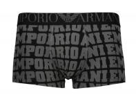 Emporio Armani Basic Stretch Cotton Trunk, Nero Stampato Gr. S