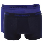 Emporio Armani 2er Set, Basic Stretch Cotton Trunk, marine/royalblau Größe S