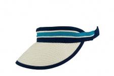 Achilleas Sonnen Visor beige / blau