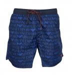 Emporio Armani Herren Badeshorts / Badehose, Signature Blau 211740