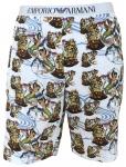 Emporio Armani Herren Bermuda Shorts, bianco stampato 111004 6P502 Größe XL