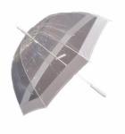 Happy Rain Stockschirm transparent weiß, 40974