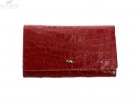 Braun Büffel Geldbörse Glanzkroko rot, 40431