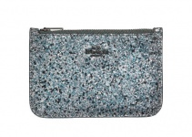 Coach Mini Portemonnaie, Metallic Graphite 38921