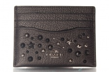 Coach Kreditkartenetui/ Flat Card Case, Metallic Graphite, 59453