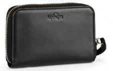 Kipling Portemonnaie medium mit Zip Essa, Leder schwarz