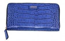 Armani Collezioni Leder Zip Wallet, Royal Blue