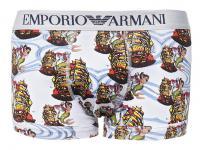 Emporio Armani Trunk Seemannsprint, bianco stampato Größe M
