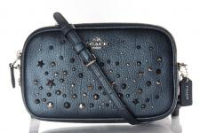 Coach XBody Clutch/ Crossbody Bag, Metallic Blue, 59452