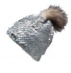 Norton Mütze weiß mit hellblau/grauen Pailletten, 7430
