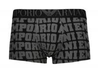 Emporio Armani Basic Stretch Cotton Trunk, Nero Stampato Größe S