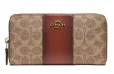 Coach Portemonnaie, Signature groß, Braun 31546