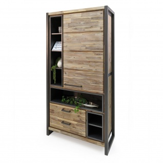 Highboard Oli in Braun / Grau 100 x 200 cm