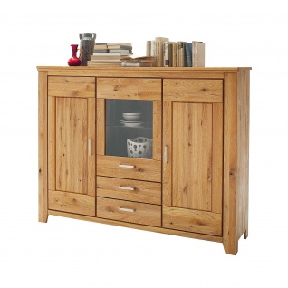 Highboard Nevada 180 x 138, 5 cm Wildeiche Massiv