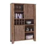Highboard Avora 115cm Breit in Braun Akazie Massiv