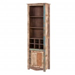 Regal Largo 190cm Hoch aus Massivholz im Vintage Look