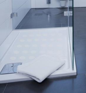 Anti Rutsch Dusche in + transparent fein gekörnt + Antirutschmatte Rutschschutz