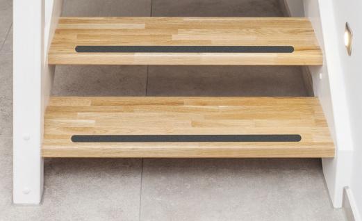 5 cm Holz Treppen Anti Rutsch Streifen +gummiert anthrazit schwarz+ verschiedene