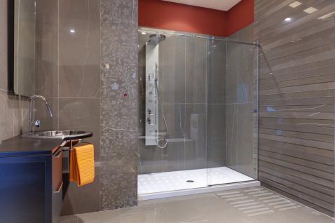 Anti Rutsch Dusche in +medium weiß+ Antirutschmatte Punkte Rutschschutz Streifen