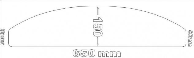 selbstklebende Anti Rutsch Matte Treppe60x15cm halbrund gummiert transp wie Bild