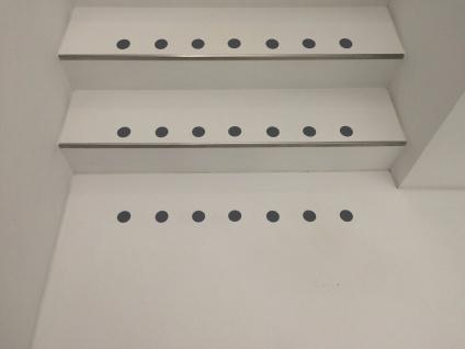 transparente Markierungspunkte für Ihre Treppe, Flur,