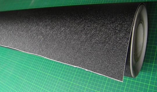 1 lfm PVC Anti Rutsch Folie Rolle Tafel ca. 119 cm breit schwarz selbstklebend