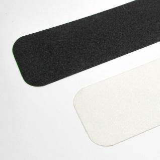 10 cm rutschfeste scharfe Anti Rutsch Streifen schwarz 60iger Korn runde Ecken