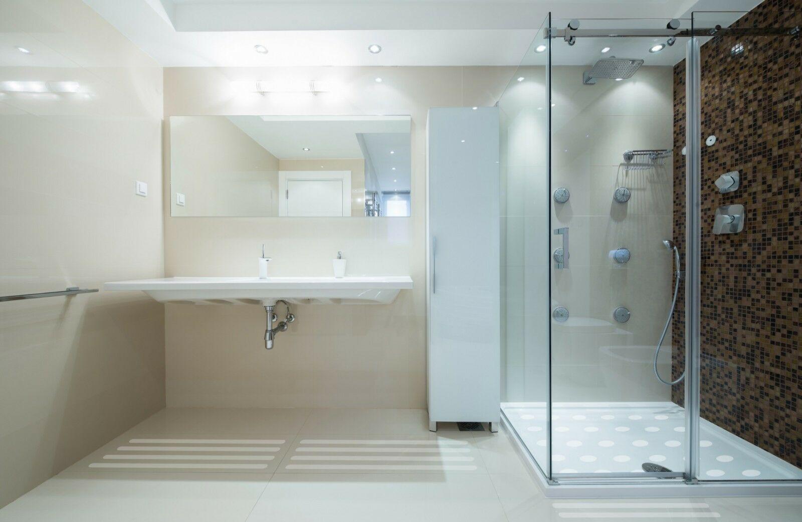 Anti Rutsch Streifen 3 cm + fein gekörnt + für Ihr Badezimmer Dusche ...