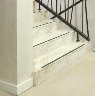 Anti Rutsch Streifen 3cm + gummiert anthrazit schwarz+ Treppe Stufen Matte