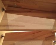 eine Antirutschmatte fast unsichtbar Var.1 medium selbsklebend für Treppen